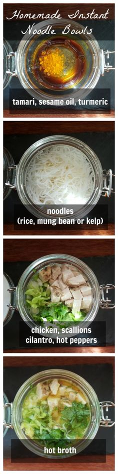 Homemade Instant Noodle Bowls #lunch #dinner #recipe #paleo #healthy