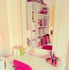 The lotion and nail polish etc should go on the dresser where it is on the picture