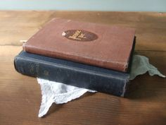 Pair of Antique Hymnals The Hymnal & Praise Ye by by jessamyjay : Vintage Home Decor with Religious Theme
