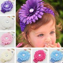 Moda bebê Headbands grande flor acessórios De Cabelo flor cabeça crianças Acessorios Para Cabelo Coroa De Princesa FS2025(China (Mainland))