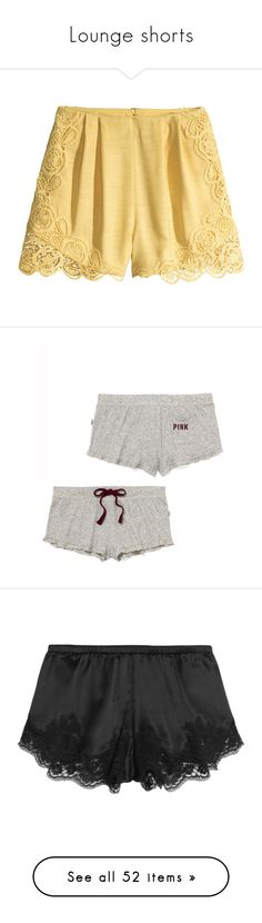 """""""Lounge shorts"""" by spaghetti-os ❤ liked on Polyvore featuring shorts, short, bottoms, h&m, light yellow, high-waisted shorts, mini short shorts, hot short shorts, h&m shorts and high waisted hot shorts"""