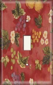 Snazzy Switch - Fruits 'n' Flowers - Light Switch Plate Cover, $7.99 (http://www.snazzyswitch.com/fruits-n-flowers-light-switch-plate-cover/)