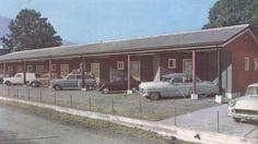 Motellet i 1957. Eigar av foto: Hopstock Hotell. *Minner*gEsAnd