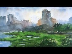 Watercolor painting demonstration on the spot   Watercolor tips and tricks by Prashant Sarkar - YouTube