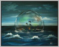 """Original Acrylbild """"meine Insel"""" von tinasart auf DaWanda.com"""