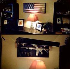 Hidden gun safe