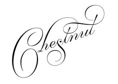 Custom lettering work in krulletter style