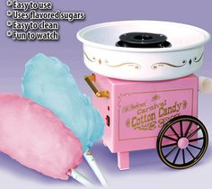 Feel like a kid again with the Cotton Candy Maker. It is easy to use and clean and super fun to watch. #CandyFloss