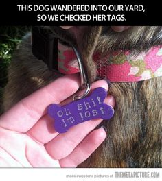 Best dog tag ever!