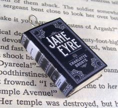 Miniature Classic Novels Book Necklace Charm Jane Eyre by JanDaJewelry on Etsy https://www.etsy.com/listing/156888509/miniature-classic-novels-book-necklace