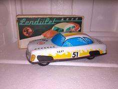 Vintage Rare Hungary Friction Tin Toy Taxi | eBay
