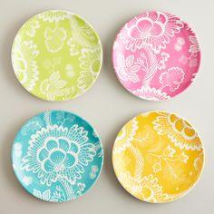 Spring Floral Plates, Set of 4 | World Market