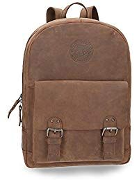 FONKIC Canvas Daypack Oil Wax Genuine Leather Casual Vintage Hiking Outdoor Mountaineering Laptop Backpack for Men and Women Student Schoolbag