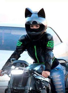 woman+biker+with+cat+ear+helmet