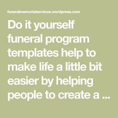 A couple poems you may like to use for funeral or celebration of how to diy funeral program templates solutioingenieria Image collections