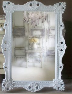 W H I T E, Baroque Mirror, Extra Large Shabby Chic Mirror, Vintage by smallVintageAffair on Etsy https://www.etsy.com/listing/129533559/w-h-i-t-e-baroque-mirror-extra-large