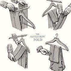 YoNoLoSabia. La forma correcta de colgar los pantalones. Moda y tendencia #Hombres #estilosymas