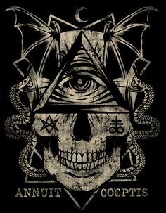 CRANEO ILLUMINATI Illuminati Tattoo, Illuminati Drawing, Masonic Tattoos, Lion Wallpaper, Esoteric Art, Skull Artwork, Occult Art, Knights Templar, Weird Art