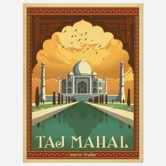 World Travel Taj Mahal Print