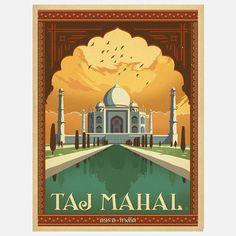 World Travel Taj Mahal Print