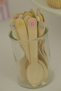 cute as a button party spoons #lalaloopsy #partyideas