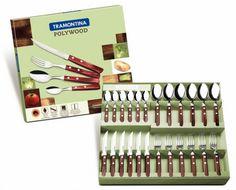 Conjunto de talheres 24 peças - 21199905 : Faqueiros - Polywood | Tramontina