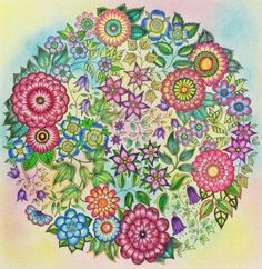 Michelle Caseys Finished Secret Garden Page Faber Castell Art Grip