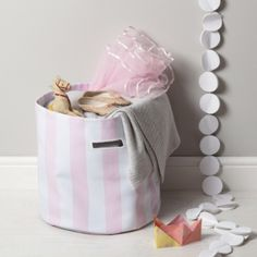 Pink Stripe Storage Bag  from The White Company