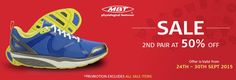 Buy one pair of MBT Shoes or sandals from MBT AU official online store and get 50% off on 2nd pair. The offer is valid from 24th September to 30th September 2015. So hurry up!