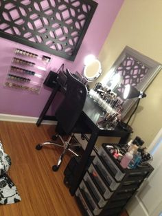 Makeup/Hair Station, yes please!