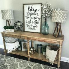 Home Decorating Ideas Rustic Rustikaler Esstisch Dekor – Lounge Sofa Sweet Home, Home Decoracion, Diy Casa, Home And Deco, Living Room Designs, Diy Home Decor, New Homes, Rustic Wood, Rustic Entryway