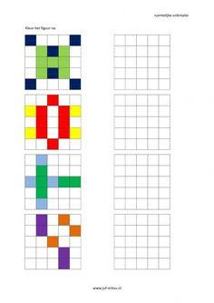 Werkbladen - ruimtelijke orientatie - nakleuren ~ Juf Milou: