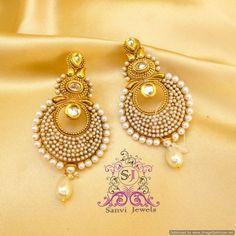 Pearl & Polki Kundan Earrings