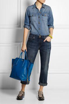 Miu Miu|Shopping textured-leather tote