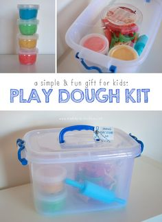 Homemade Play Dough Kit {A Simple & FUN Gift for Kids} | Mama.Papa.Bubba.