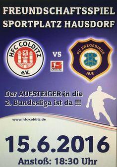 Kartenvorverkauf HFC Colditz - FC Erzgebirge Aue am 15.06.2016 hat begonnen / Fußball, 2016, Sachsen, HFC Colditz - FC Erzgebirge Aue, Kartenvorverkauf