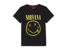 FABRIC FLAVOURS Nirvana 'Smiley Face' print cotton T-shirt