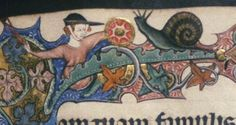 The knight is a woman with a shield in her left hand, opposing a sinistral snail with a full-tentacled animal.