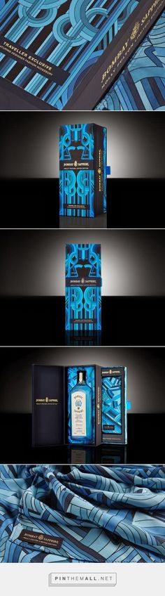 Bombay Sapphire x Holly Fulton limited edition 'Traveller Exclusive' gift set by GLOCK Id Design, Blue Design, Luxury Packaging, Brand Packaging, Holly Fulton, Limited Edition Packaging, Bombay Sapphire, Corporate Id, Press Kit