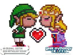 Nintendo Link and Zelda Kissing Geek Gamer Wedding Cake Toppers