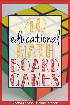 40 of the top educational math board games on the market. With games for all ages of kids your next game night will be the most fun yet! Educational Board Games, Math Board Games, Printable Board Games, Math Boards, Board Games For Kids, Math Games, Math Activities, Multiplication Games, Group Boards