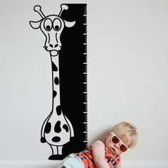 You can write with chalkboard on the growth chart chalkboard wall sticker to record