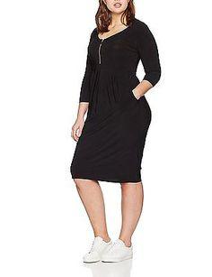 22 (Manufacturer Size:22/24), Black, Evans Women's Pocket Zip Dress NEW