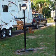 Camper lamp using PVC pipe