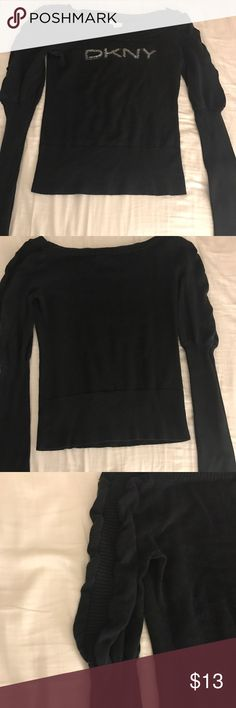 DKNY sweater DKNY jeans sweater in good condition. The top of the arms is a little puffy/has some ruching. DKNY Sweaters