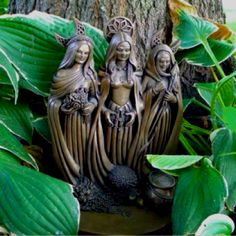 My Triple Goddess Statue produced by Sacred Source in my magical garden. Maiden Mother Crone, Mother Goddess, Triple Goddess, Moon Goddess, Mystique, Wooden Art, Gods And Goddesses, Book Of Shadows, Mandala