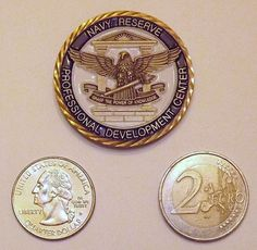 Naval Reserve Professional Development Center CPO Challenge Coin. TESTED, SELECT