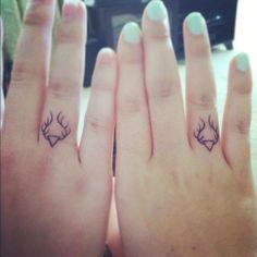 Friendship antler tattoos. #Portlandia