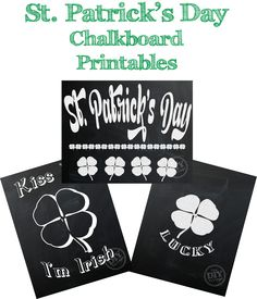St. Patrick's Day chalkboard printables plus 22 other awesome freebies