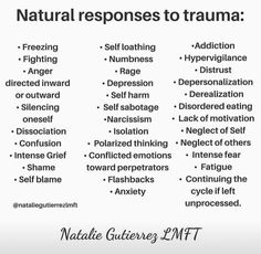 Responses to Trauma Ptsd Awareness, Mental Health Awareness, Trauma Quotes, Heartbreak Quotes, Mental And Emotional Health, Mental Help, Emotional Healing, Trauma Therapy, Lack Of Motivation